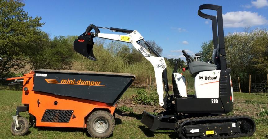 2 pack: Minigraver og motorbør fra Sandgården - maskiner alle kan betjene