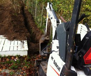 Minigraveren graver rende